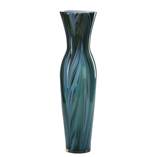 Peacock Feather Urn Vase