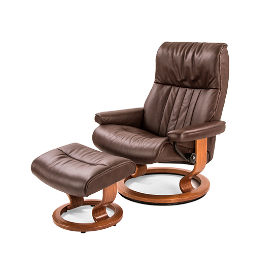 Crown Large Chair and Ottoman