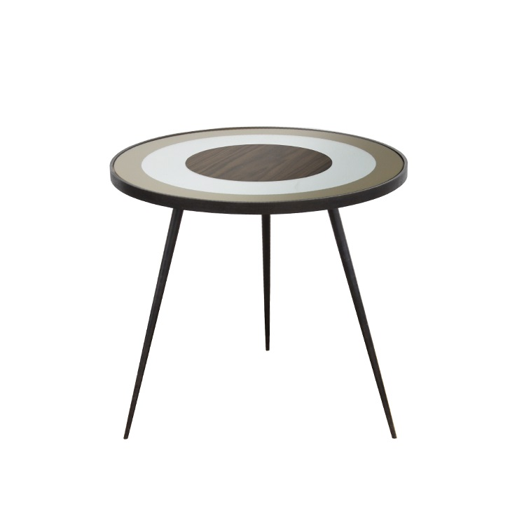 Large Round Gold Side Table