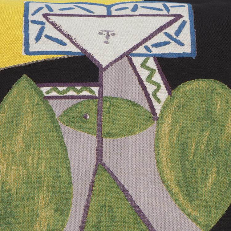Picasso, Femme en Vert et Mauve Pillow