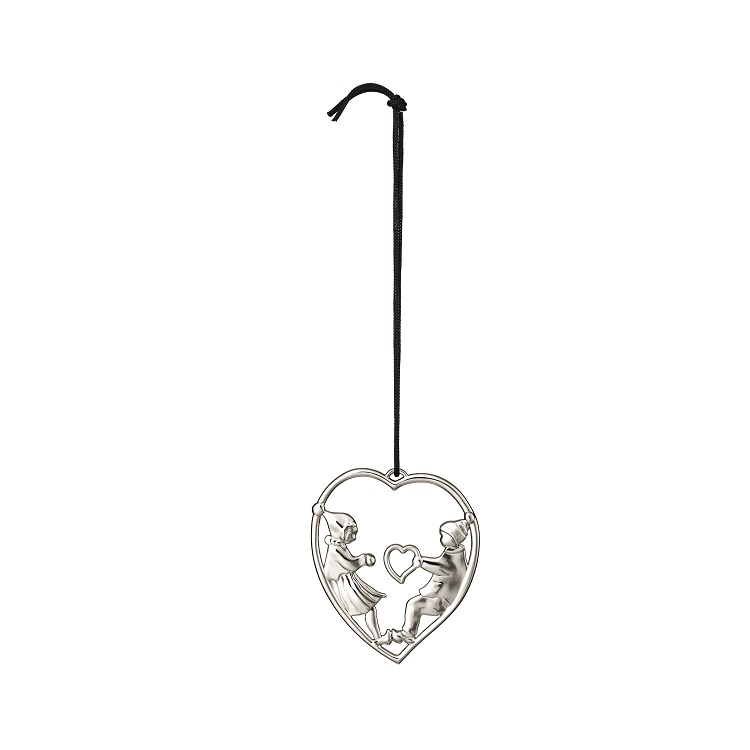 Elves in Heart Ornament