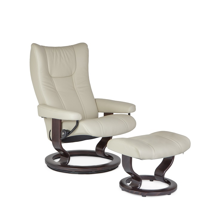 Wing Medium Chair and Ottoman