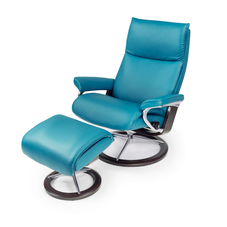 Aura Large Chair and Ottoman