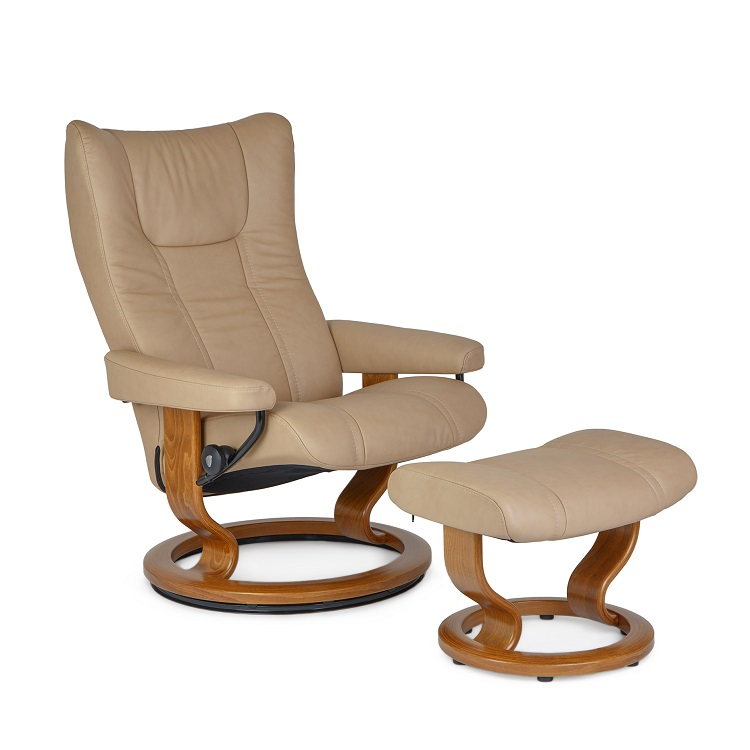 Wing Small Chair and Ottoman