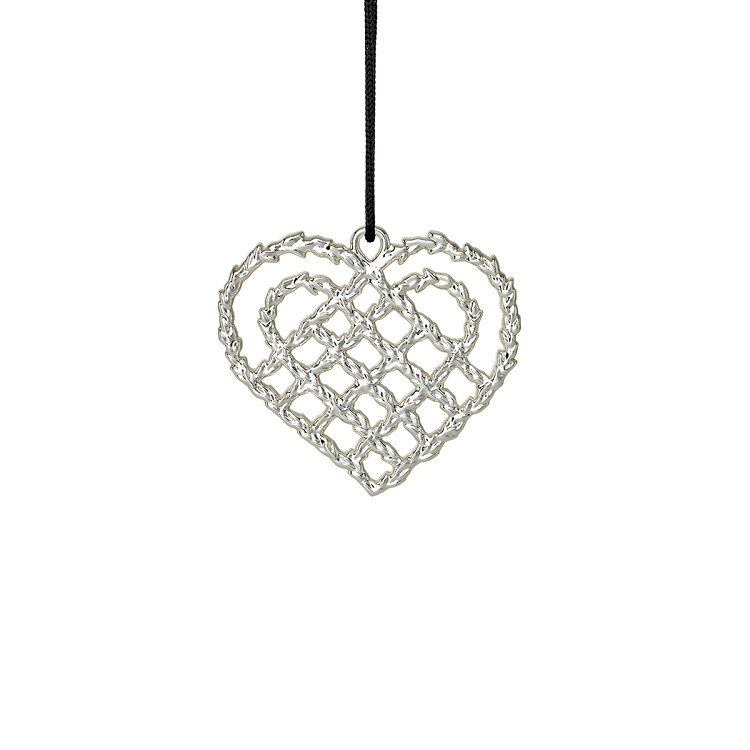 Braided Christmas Heart Ornament