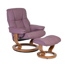 Ekornes Medium Chair and Ottoman