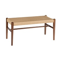 Jonas Rope Bench Walnut
