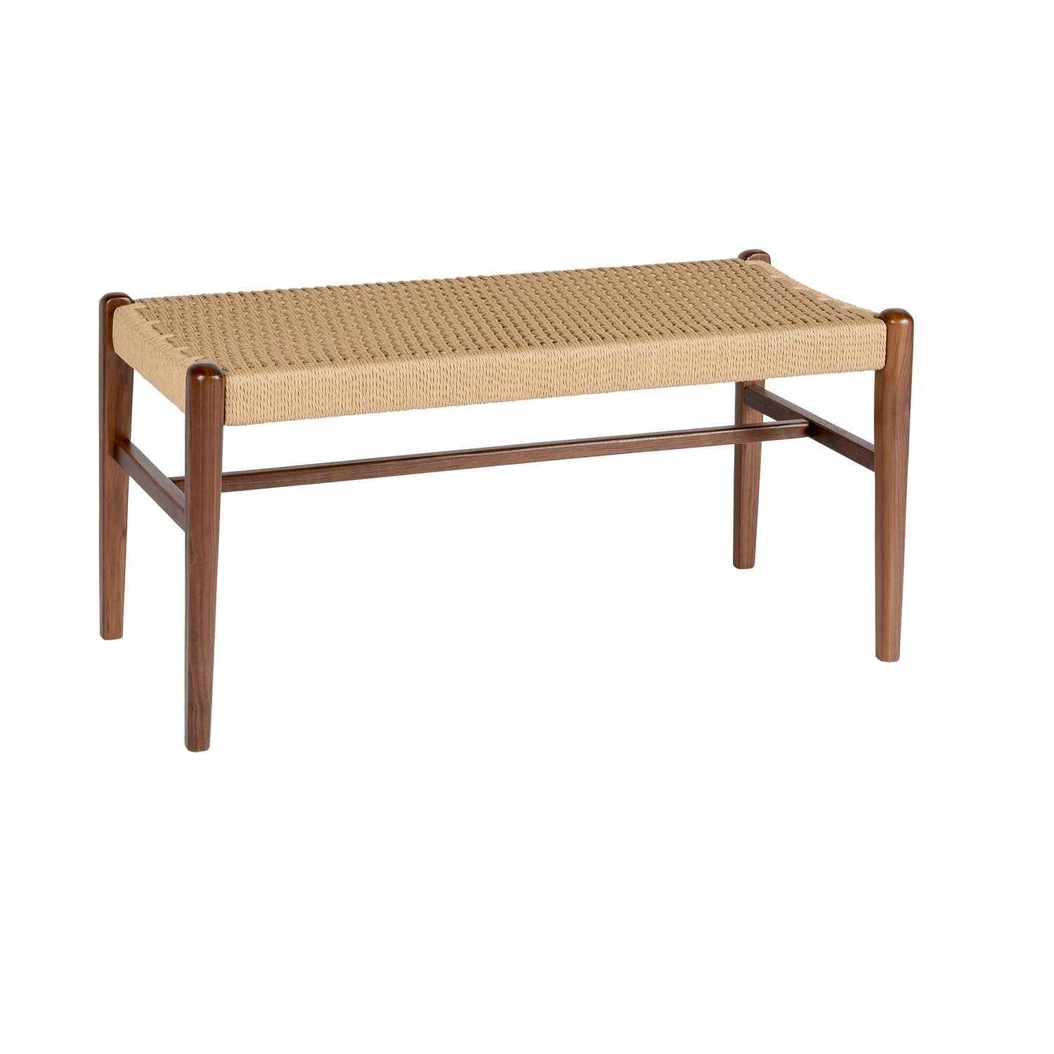Jonas Walnut Rope Bench