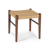 Jonas Rope Stool Walnut