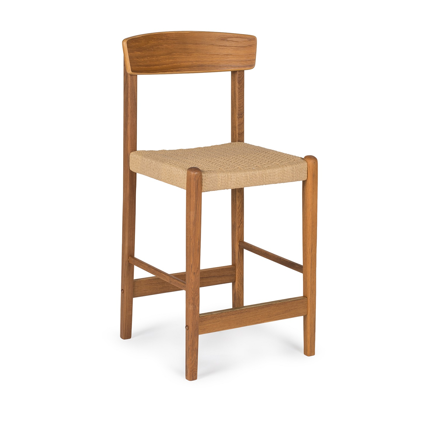 Jonas Teak Counter Stool with Back