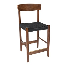 Jonas Walnut Counter Stool with Back