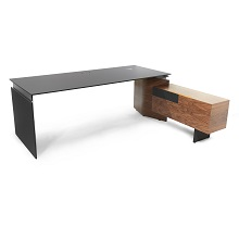 Move&Lead Executive Sit-Stand Desk with Pedestal