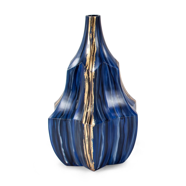 Cobalt Short Vase